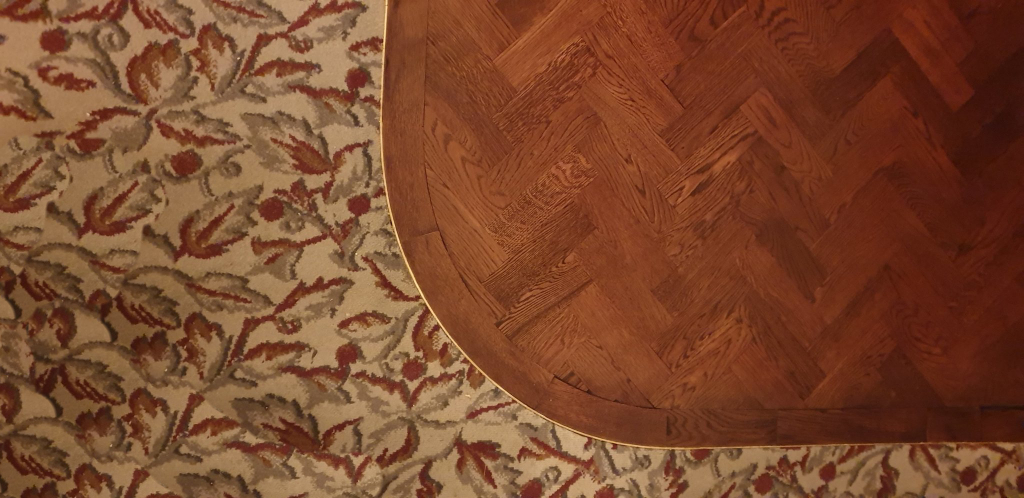 Oak Parquet Flooring with Brass Border - #2
