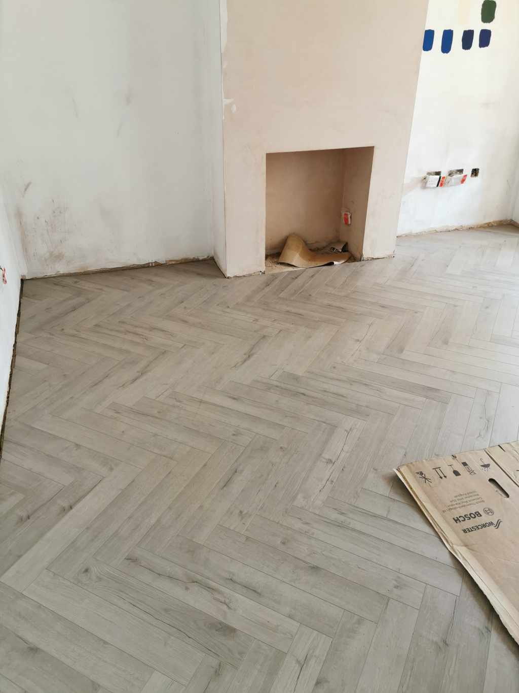 Herringbone Laminate Flooring Installation - #1