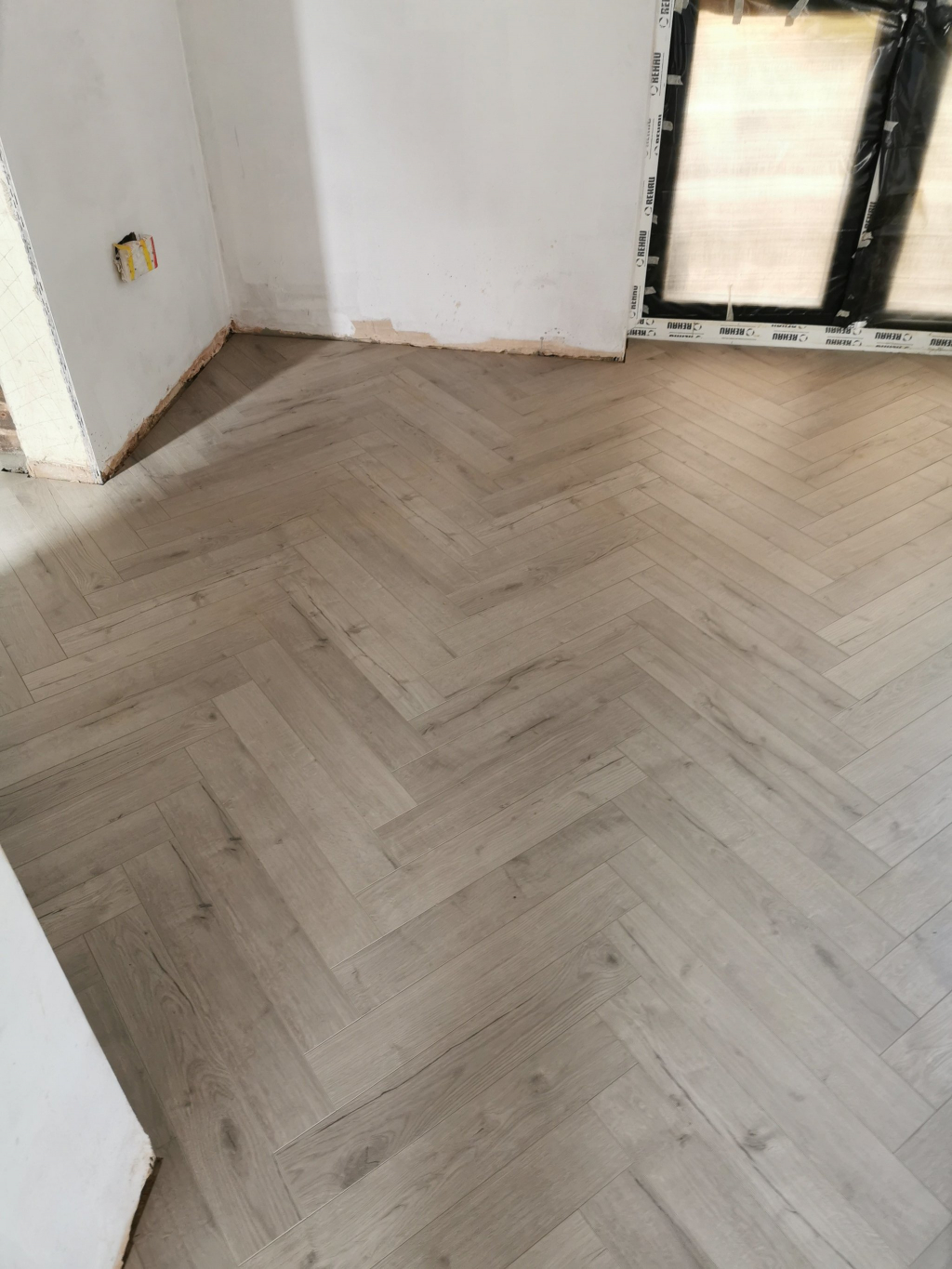 Herringbone Laminate Flooring Installation - #2