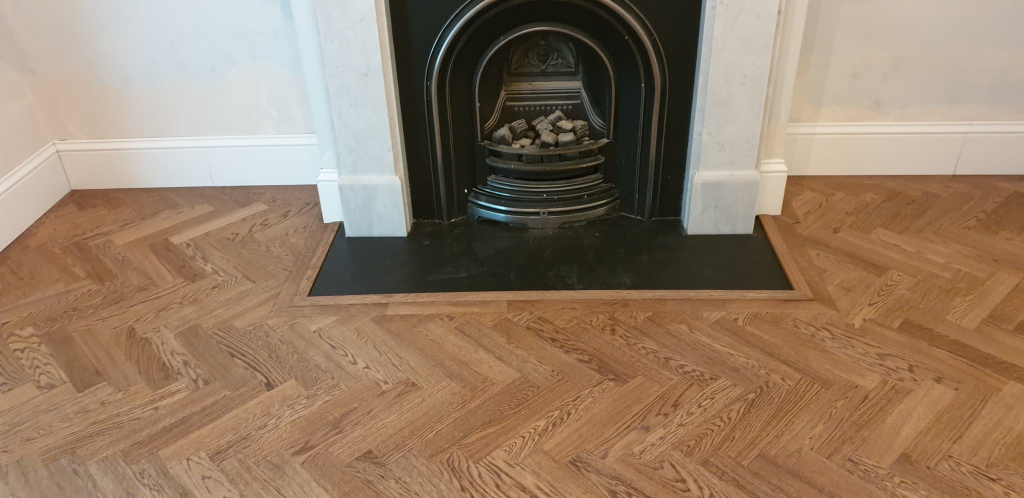 Herringbone Oak Parquet Flooring Finished in Osmo Terra - #3