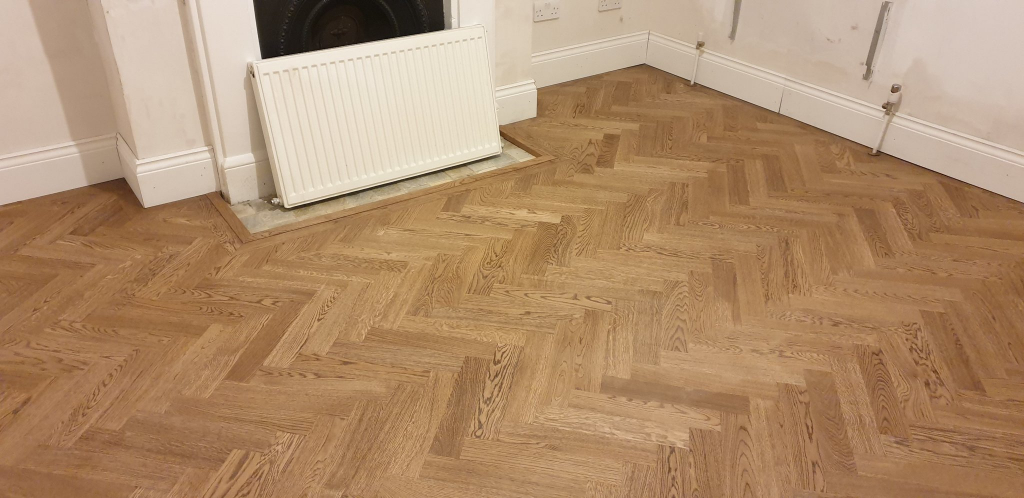 Herringbone Oak Parquet Flooring Finished in Osmo Terra - #5