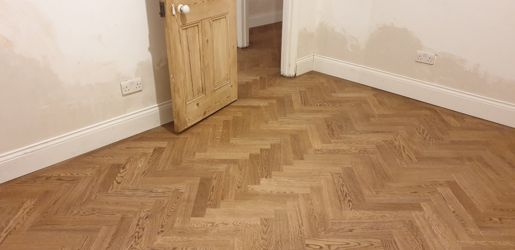 Herringbone Oak Parquet Flooring Finished in Osmo Terra - #6