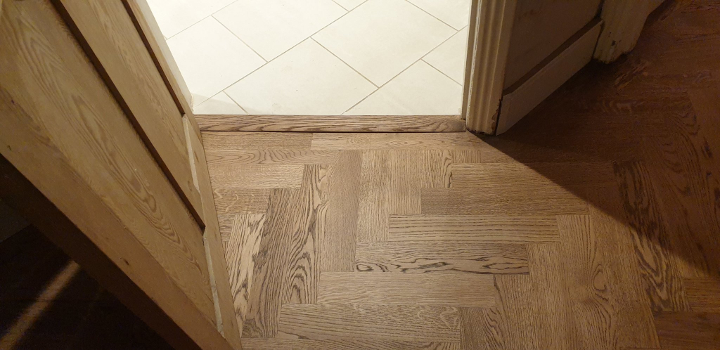 Herringbone Oak Parquet Flooring Finished in Osmo Terra - #7