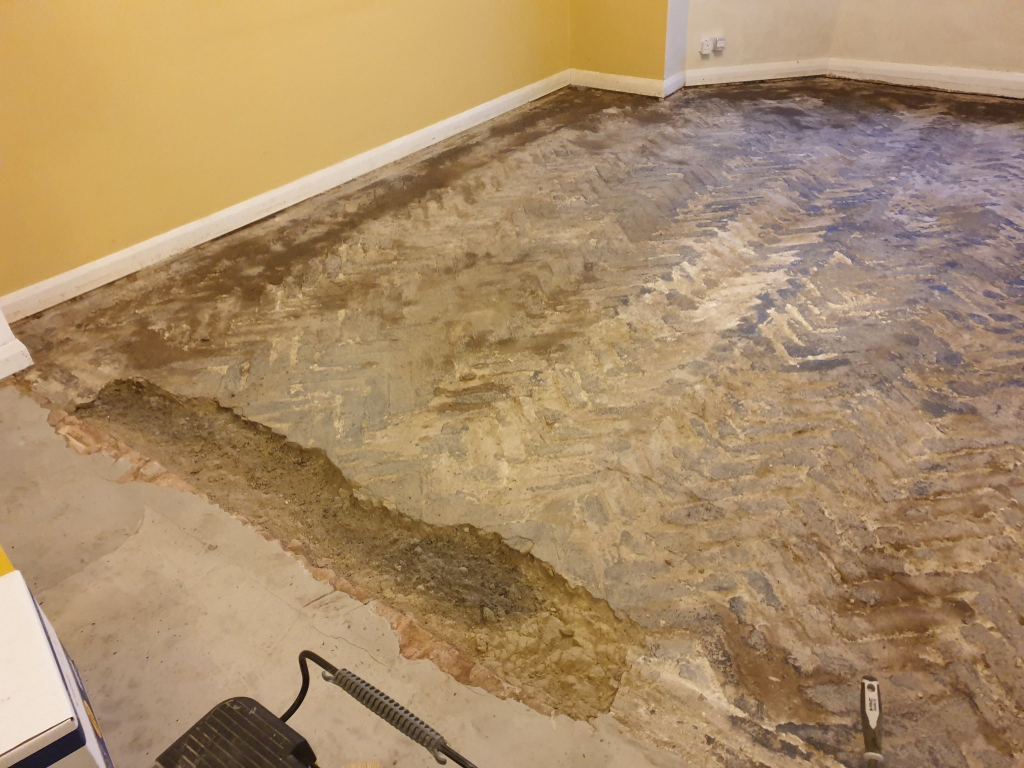 clean subfloor - #6