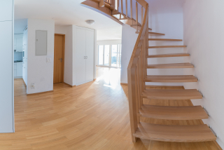 Staircase sanding and floor restoration