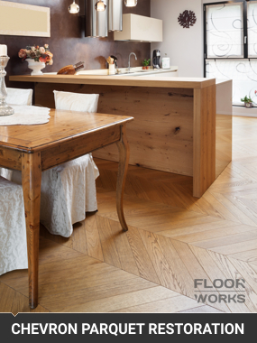 Chevron Parquet Flooring RestorationGuildford