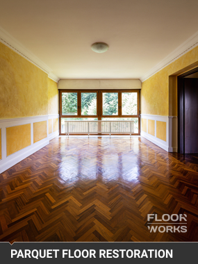 Parquet Floor Restoration in Northwest London