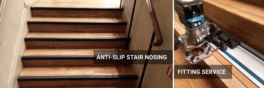 Antislip Stair Nosings Supply And Installation For Commercial Use