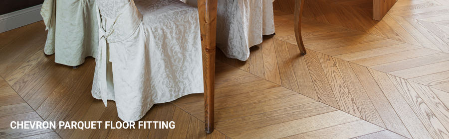 Chevron Parquet Floor Fitting