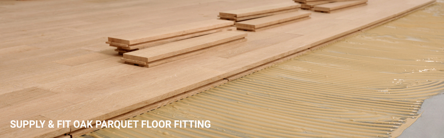 Oak Parquet Floor Fitting