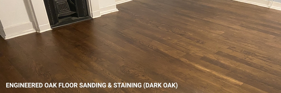 Engineered Oak Floor Sanding Dark Oak