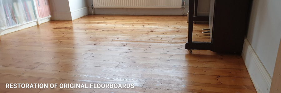Floorboards Restoration With Furniture