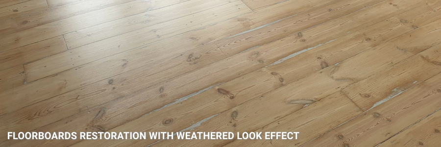 Floorboards Restoration With Weathered Look