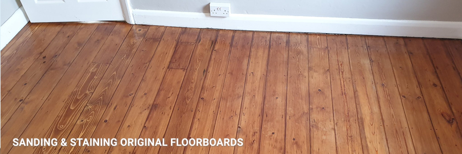 Floorboards Sanding Staining And Gap Filling