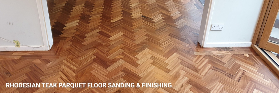 Rhodesian Teak Parquet Floor Sanding 7 in potters-bar