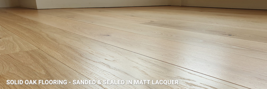 Wide Sand Solid Oak Restoration With Matt Finish