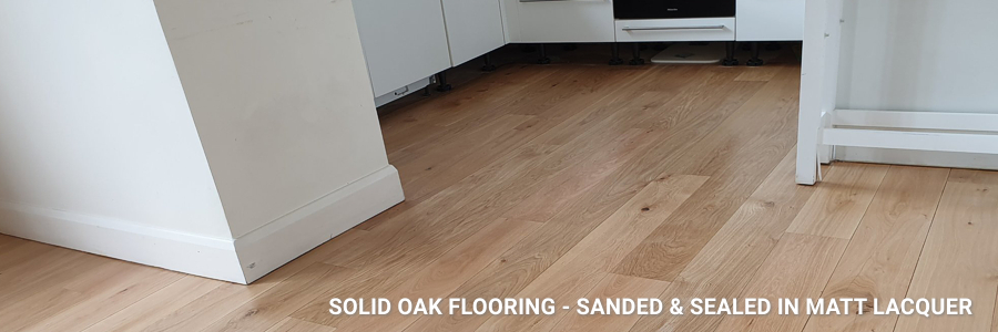 Solid Oak Sanding And Sealing Matt Lacquer