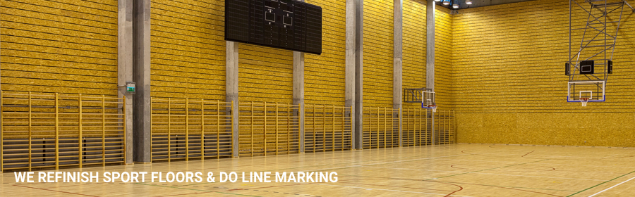 Sport Floors Refinishing Line Marking in mortlake