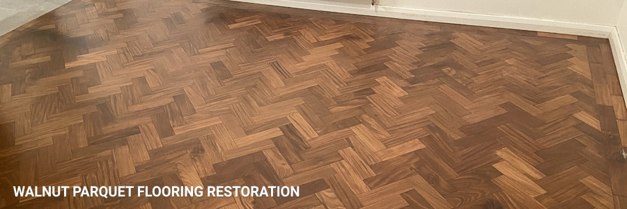 Walnut Parquet Flooring Restoration Sanding 4