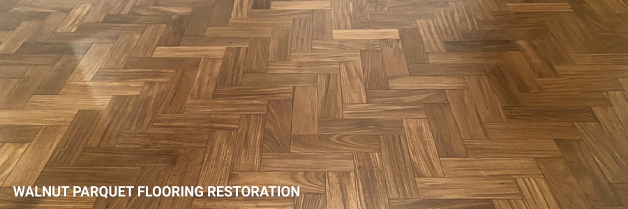 Wide Sand Walnut Parquet Flooring Restoration Sanding 6