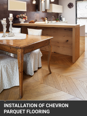 Chevrob Parquet Floor Installation