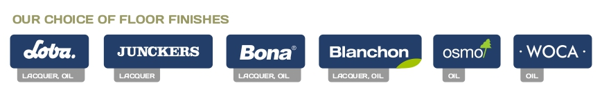 Our Choice of Brands for Floor Finishes - Lacquers & Oils